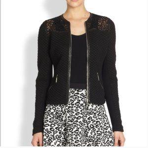 Rebecca Taylor Jacket Back Leather Lace Nightwear